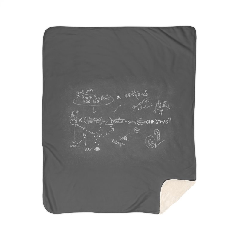 Christmas Equation Home Sherpa Blanket Blanket by 9th Mountain Threads