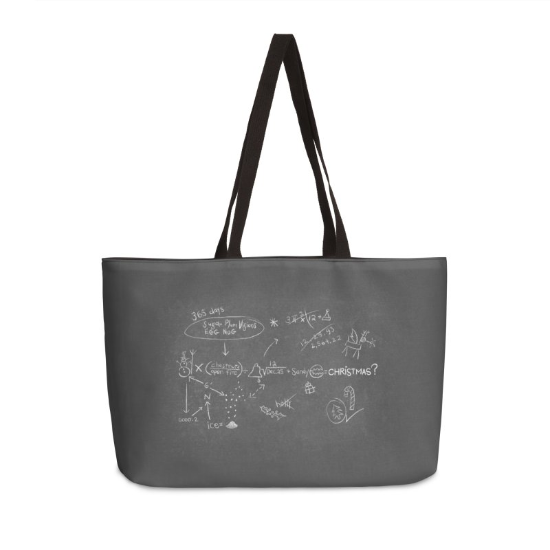 Christmas Equation Accessories Weekender Bag Bag by 9th Mountain Threads