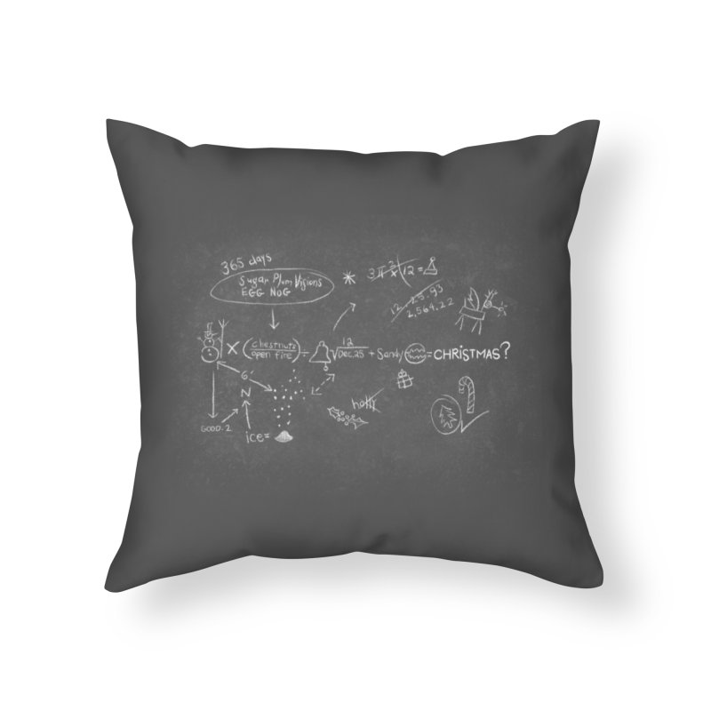 Christmas Equation Home Throw Pillow by 9th Mountain Threads