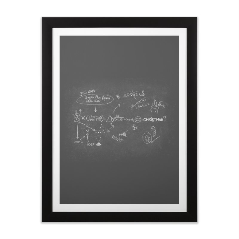 Christmas Equation Home Framed Fine Art Print by 9th Mountain Threads