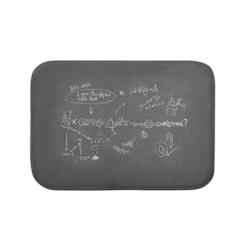 Christmas Equation Home Bath Mat by 9th Mountain Threads