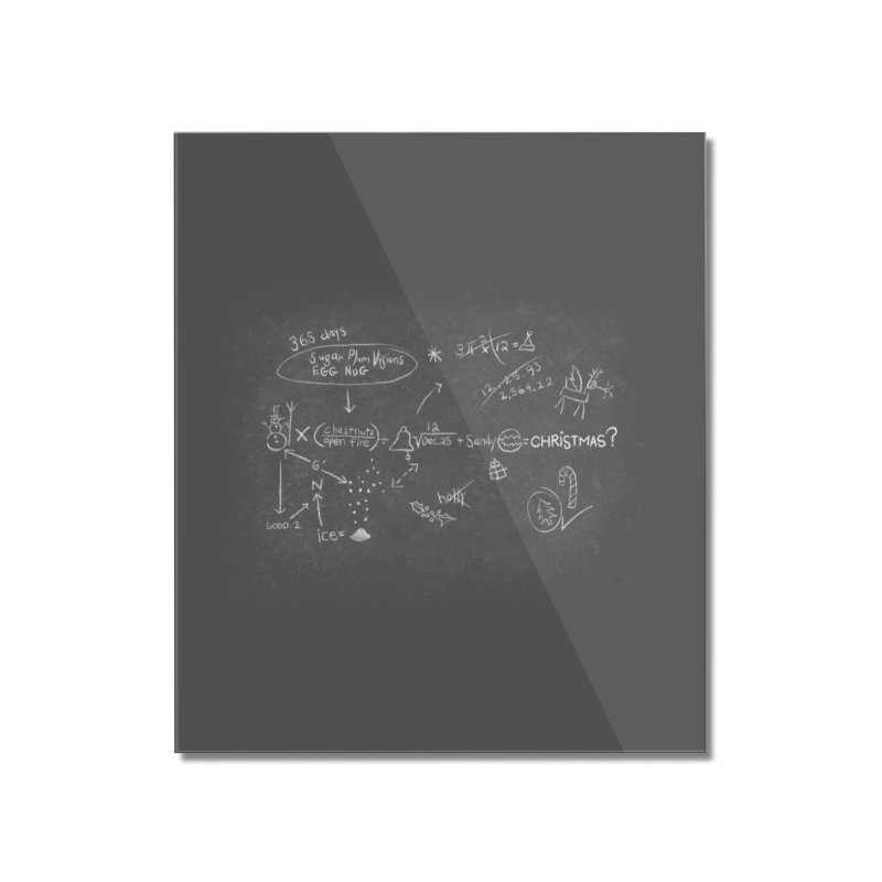 Christmas Equation Home Mounted Acrylic Print by 9th Mountain Threads