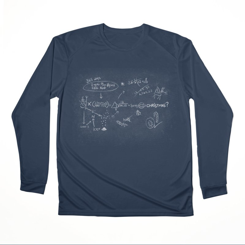 Christmas Equation Men's Performance Longsleeve T-Shirt by 9th Mountain Threads