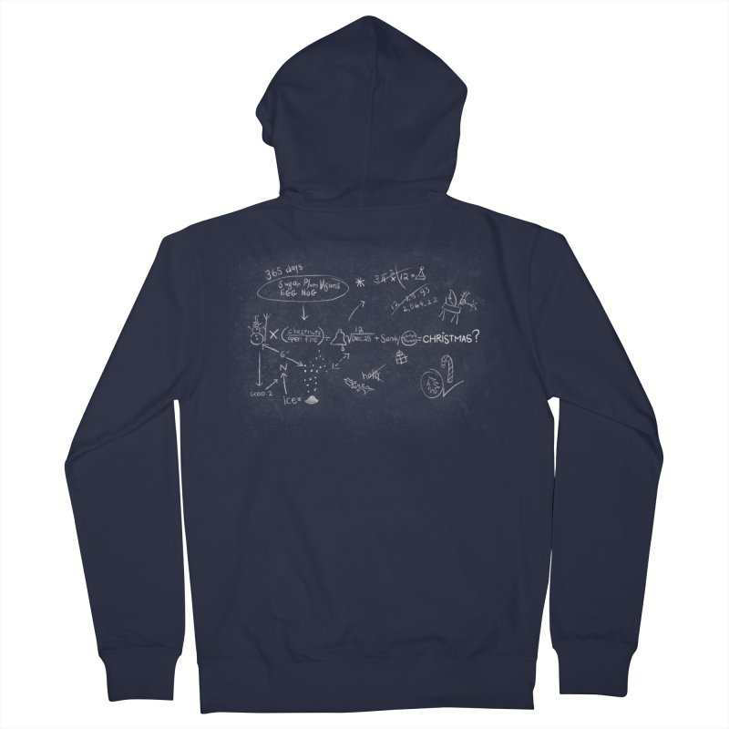 Christmas Equation Men's French Terry Zip-Up Hoody by 9th Mountain Threads