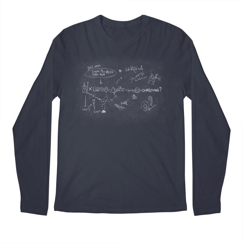 Christmas Equation Men's Regular Longsleeve T-Shirt by 9th Mountain Threads