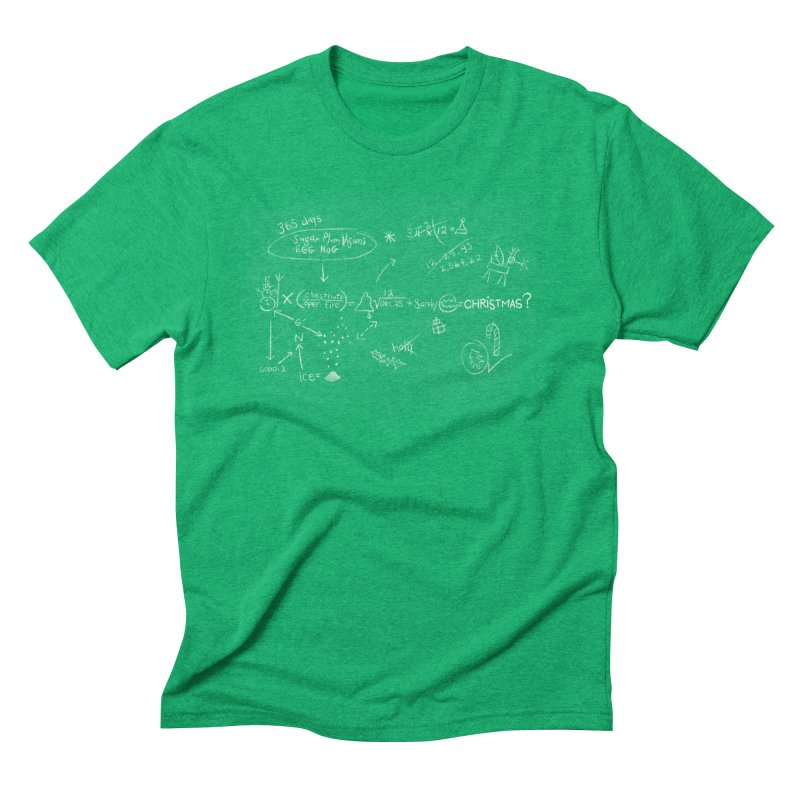 Christmas Equation Men's Triblend T-Shirt by 9th Mountain Threads