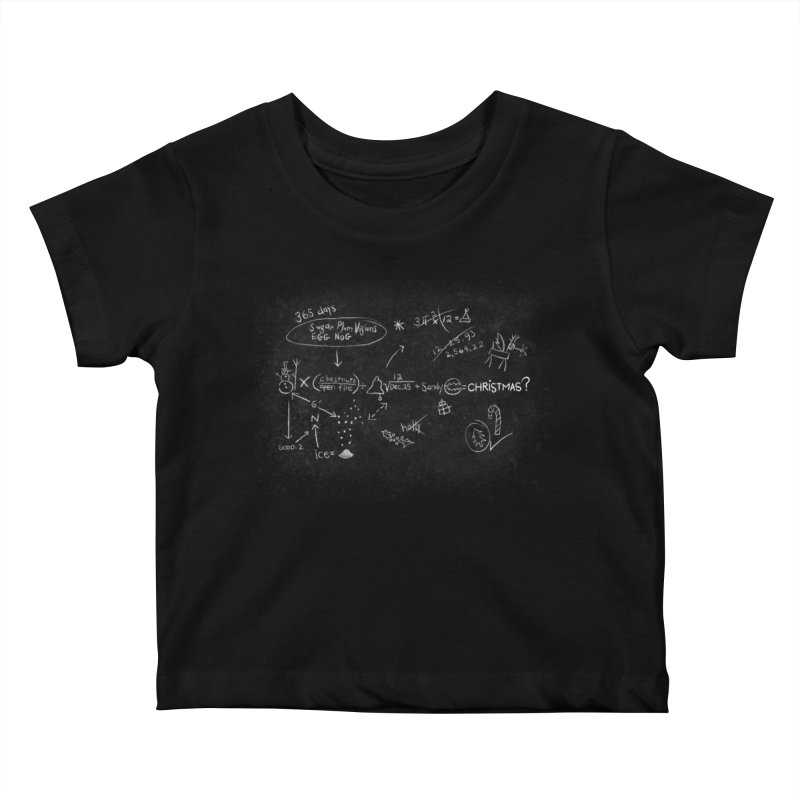 Christmas Equation Kids Baby T-Shirt by 9th Mountain Threads