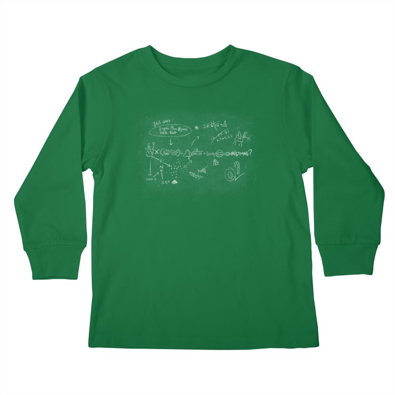Christmas Equation Kids Longsleeve T-Shirt by 9th Mountain Threads