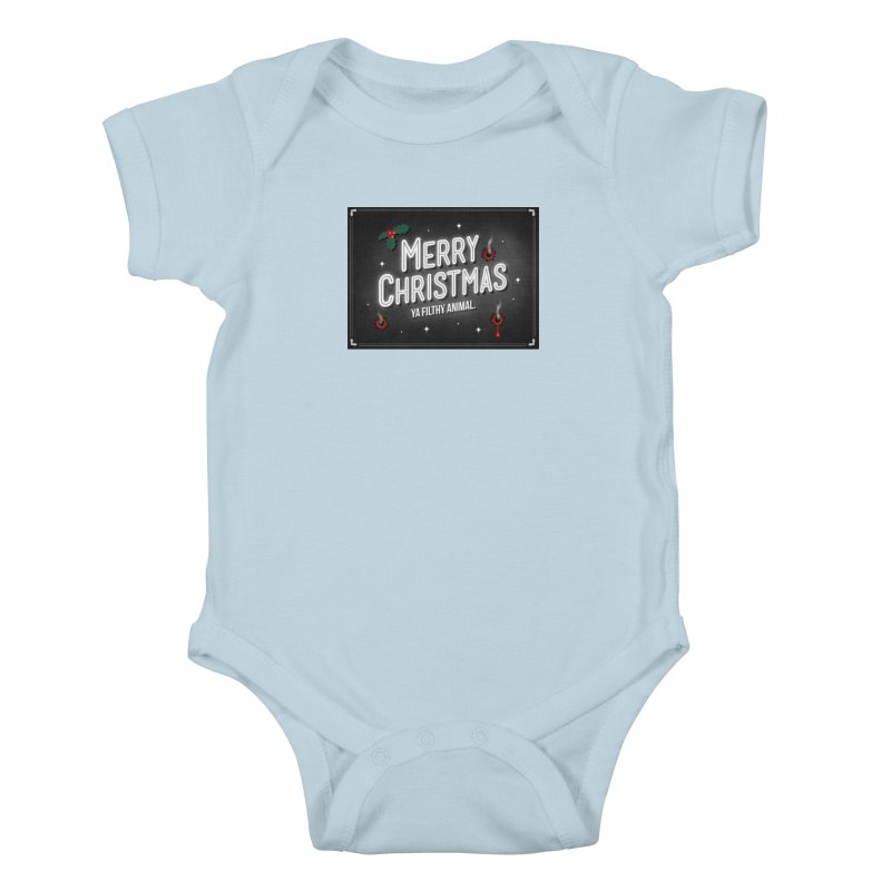 Ya Filthy Animal Kids Baby Bodysuit by 9th Mountain Threads
