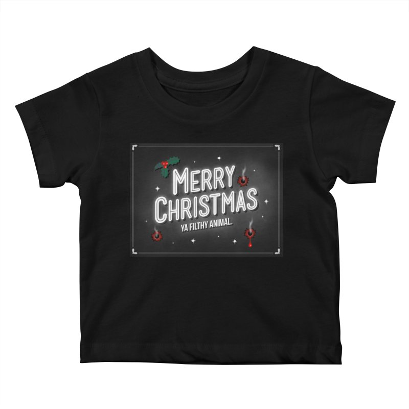 Ya Filthy Animal Kids Baby T-Shirt by 9th Mountain Threads