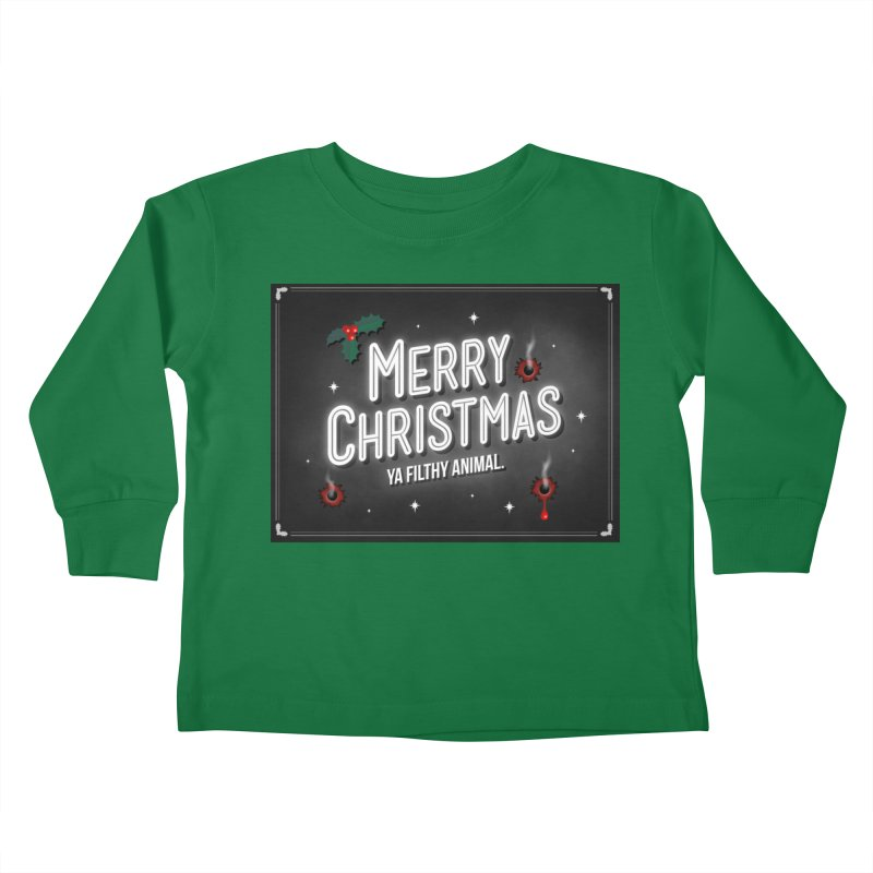 Ya Filthy Animal Kids Toddler Longsleeve T-Shirt by 9th Mountain Threads