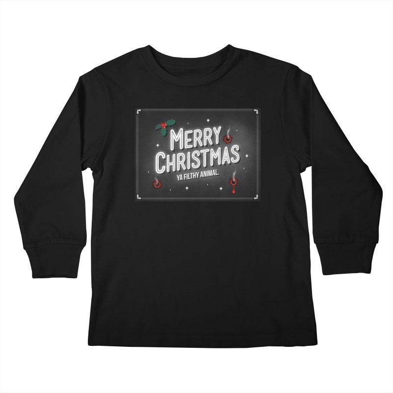 Ya Filthy Animal Kids Longsleeve T-Shirt by 9th Mountain Threads
