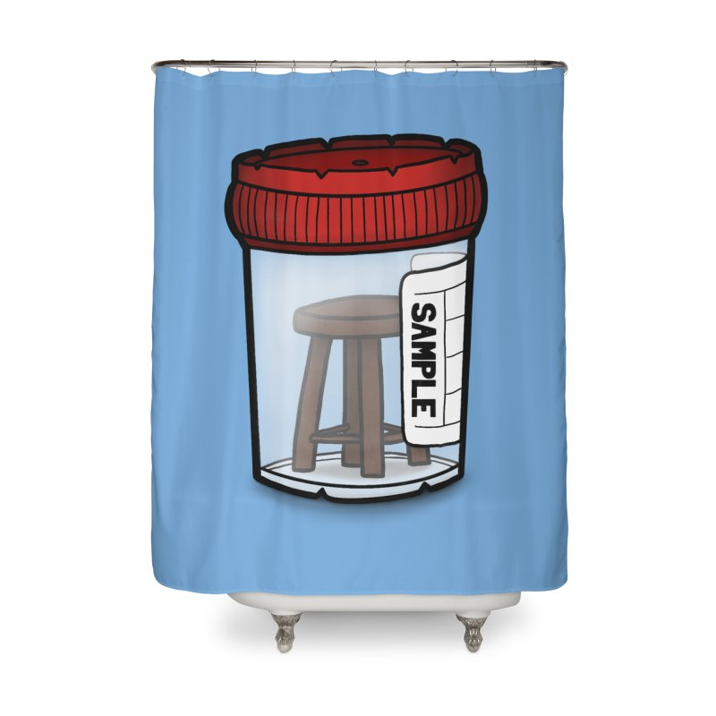 Stool Sample Home Shower Curtain by 9th Mountain Threads