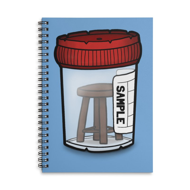 Stool Sample Accessories Lined Spiral Notebook by 9th Mountain Threads
