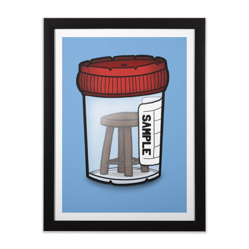 Stool Sample Home Framed Fine Art Print by 9th Mountain Threads