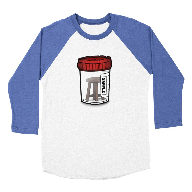 Stool Sample Men's Baseball Triblend Longsleeve T-Shirt by 9th Mountain Threads
