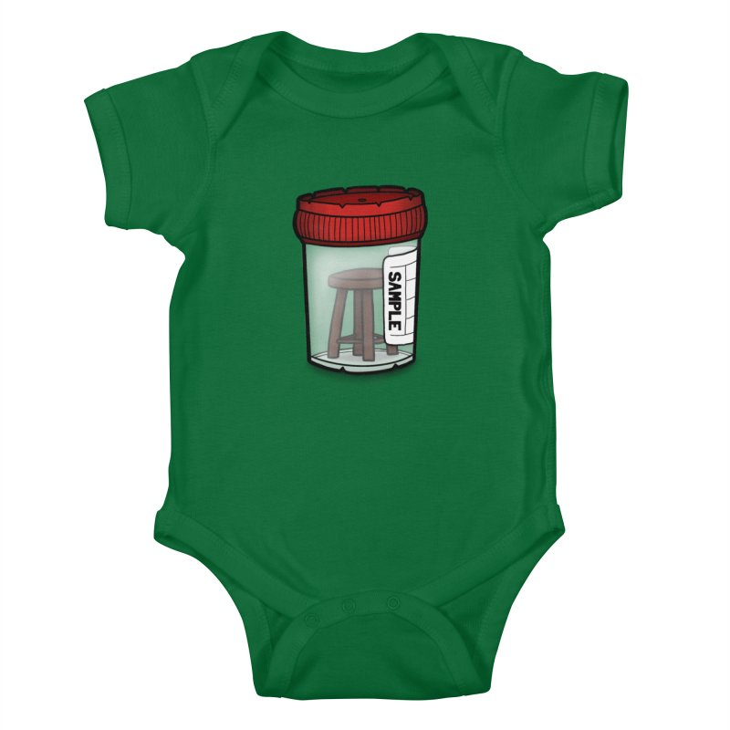 Stool Sample Kids Baby Bodysuit by 9th Mountain Threads
