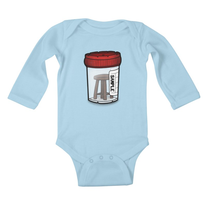 Stool Sample Kids Baby Longsleeve Bodysuit by 9th Mountain Threads