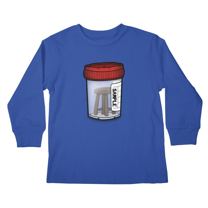 Stool Sample Kids Longsleeve T-Shirt by 9th Mountain Threads