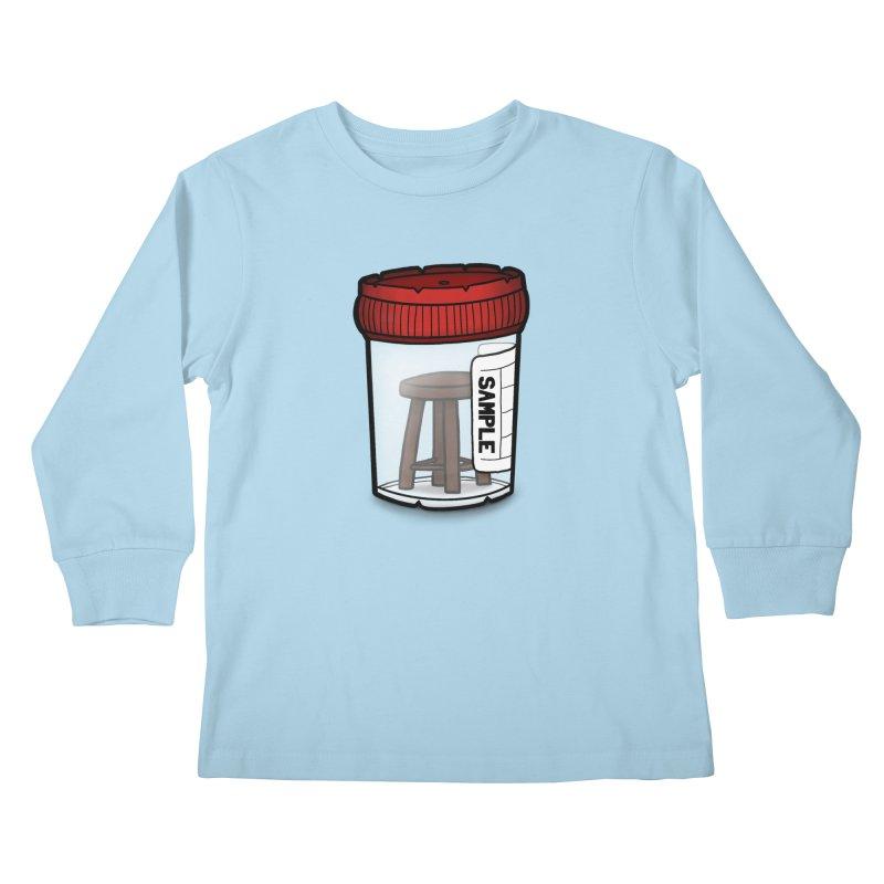 Stool Sample Kids Longsleeve T-Shirt by 9th Mountain Threads