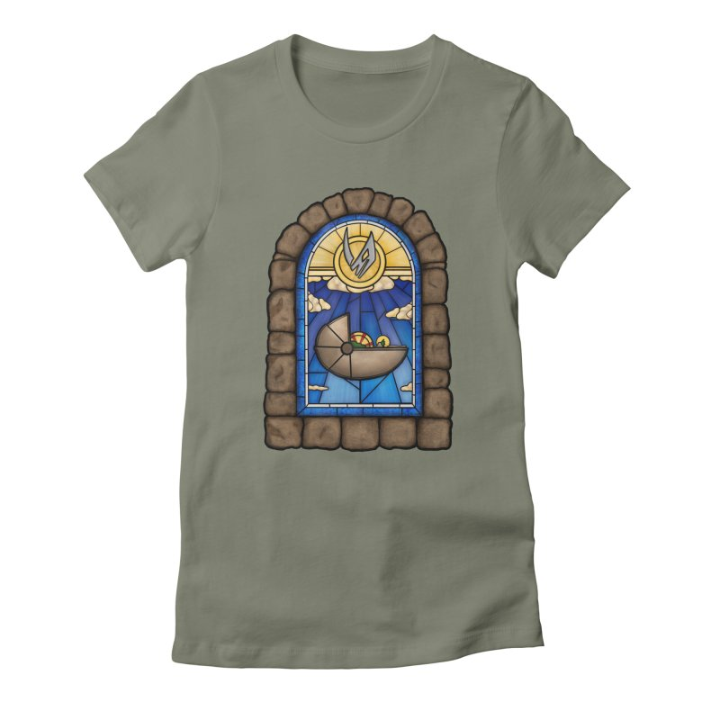 The Child Women's Fitted T-Shirt by 9th Mountain Threads