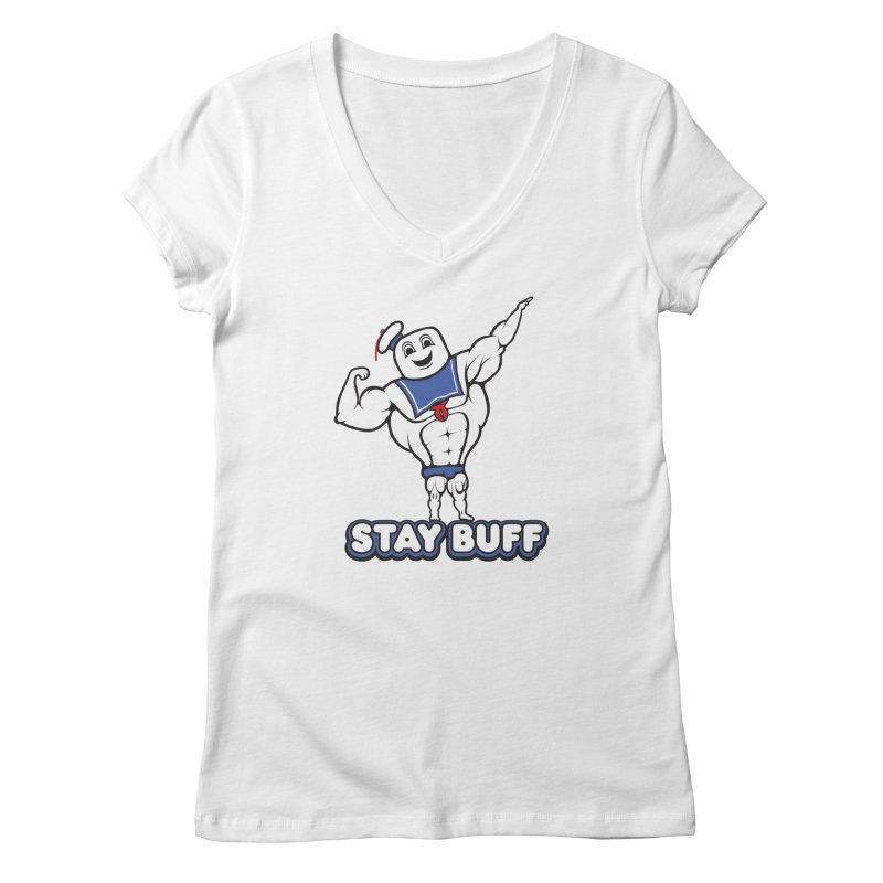 Stay Buff Women's Regular V-Neck by 9th Mountain Threads