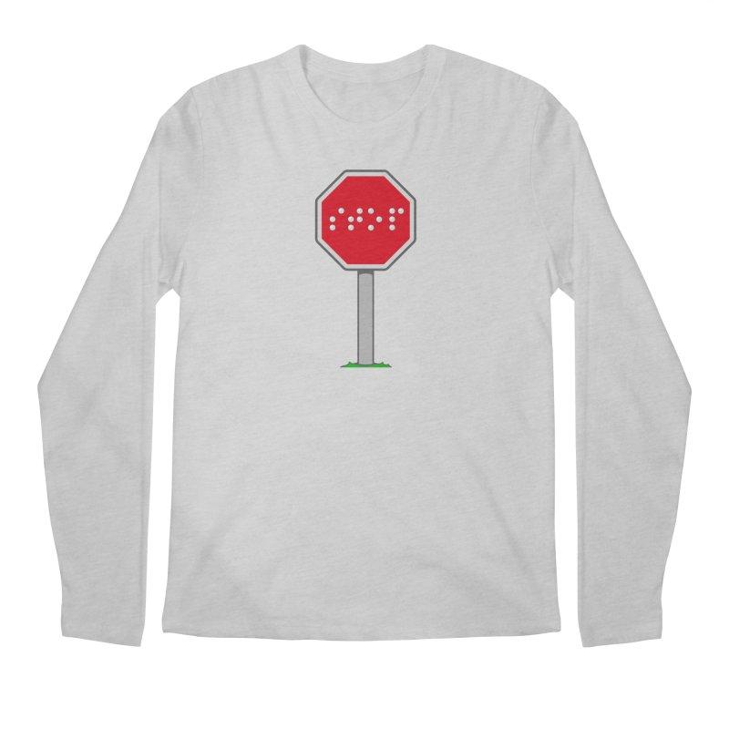 STOP! Men's Regular Longsleeve T-Shirt by 9th Mountain Threads