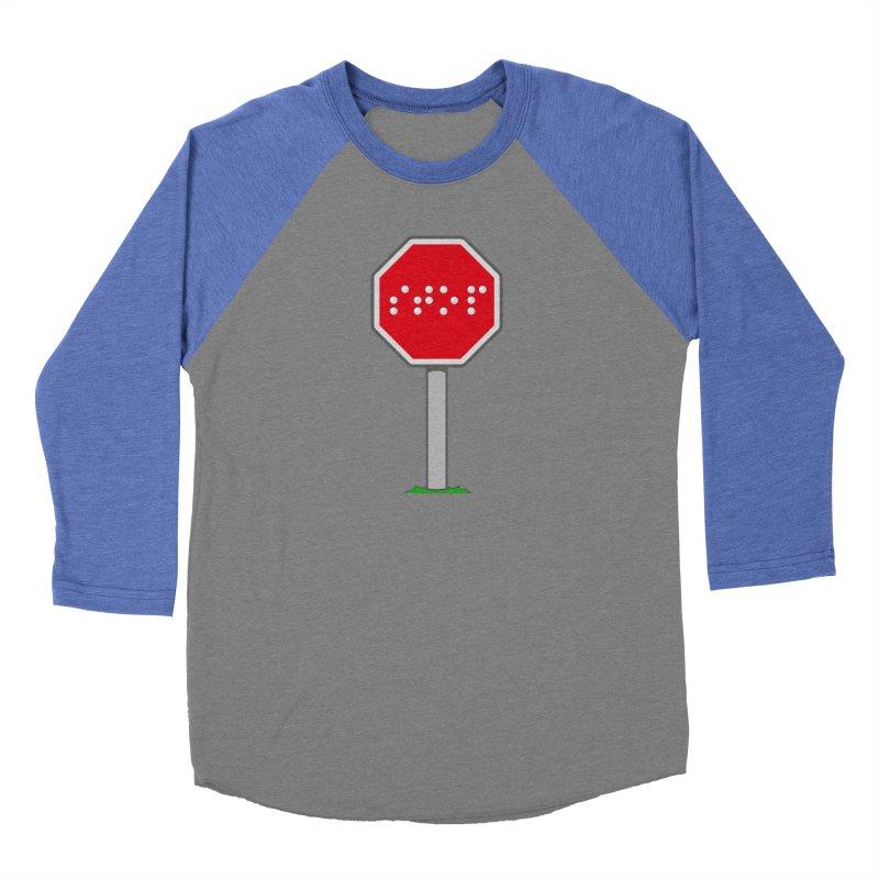 STOP! Women's Baseball Triblend Longsleeve T-Shirt by 9th Mountain Threads
