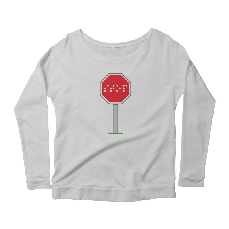 STOP! Women's Scoop Neck Longsleeve T-Shirt by 9th Mountain Threads