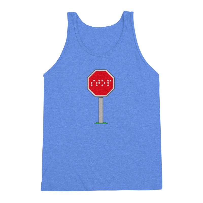 STOP! Men's Triblend Tank by 9th Mountain Threads