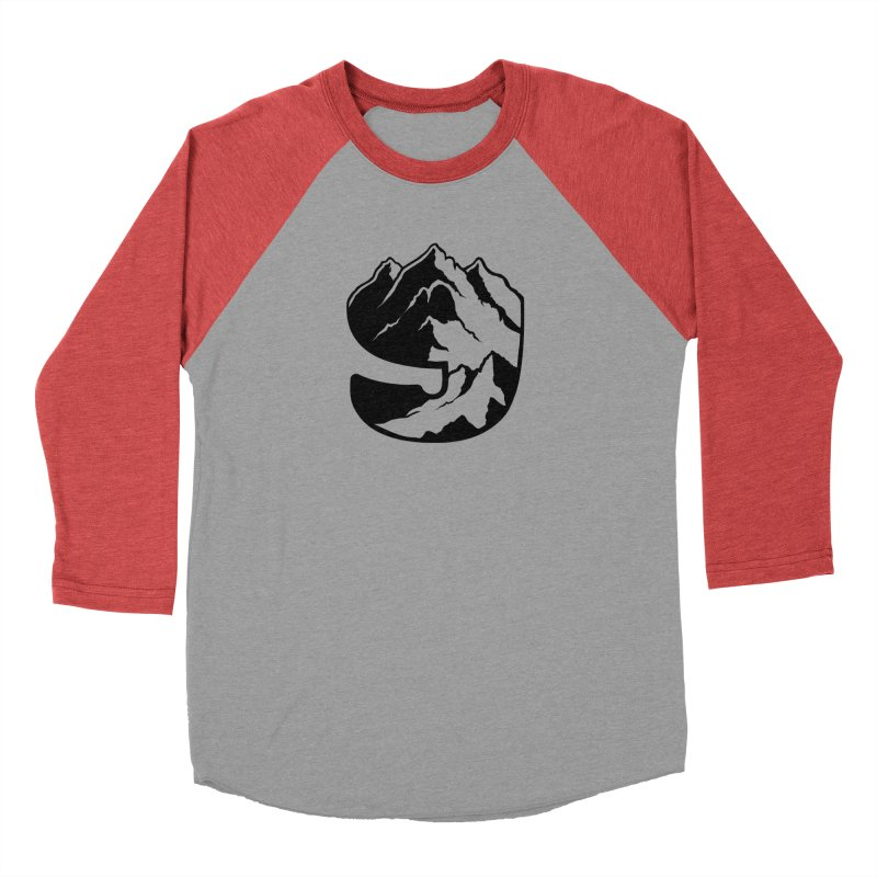 The 9th Mountain Men's Baseball Triblend Longsleeve T-Shirt by 9th Mountain Threads