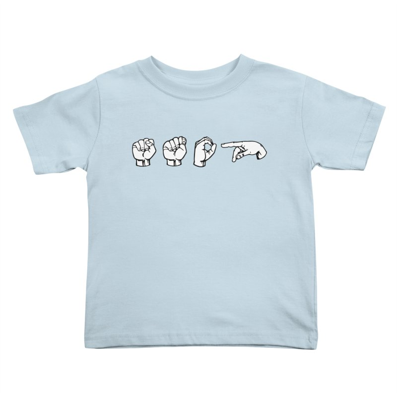 Stop Sign Kids Toddler T-Shirt by 9th Mountain Threads