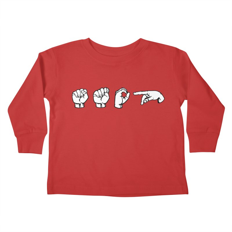 Stop Sign Kids Toddler Longsleeve T-Shirt by 9th Mountain Threads