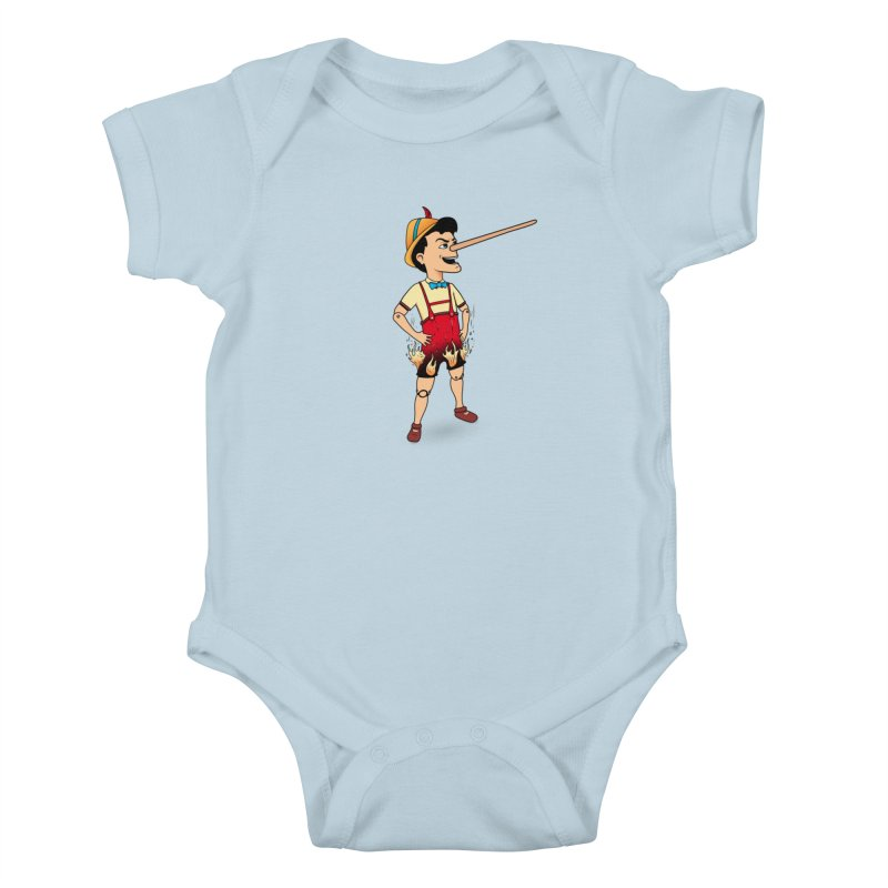 Liar Liar Kids Baby Bodysuit by 9th Mountain Threads