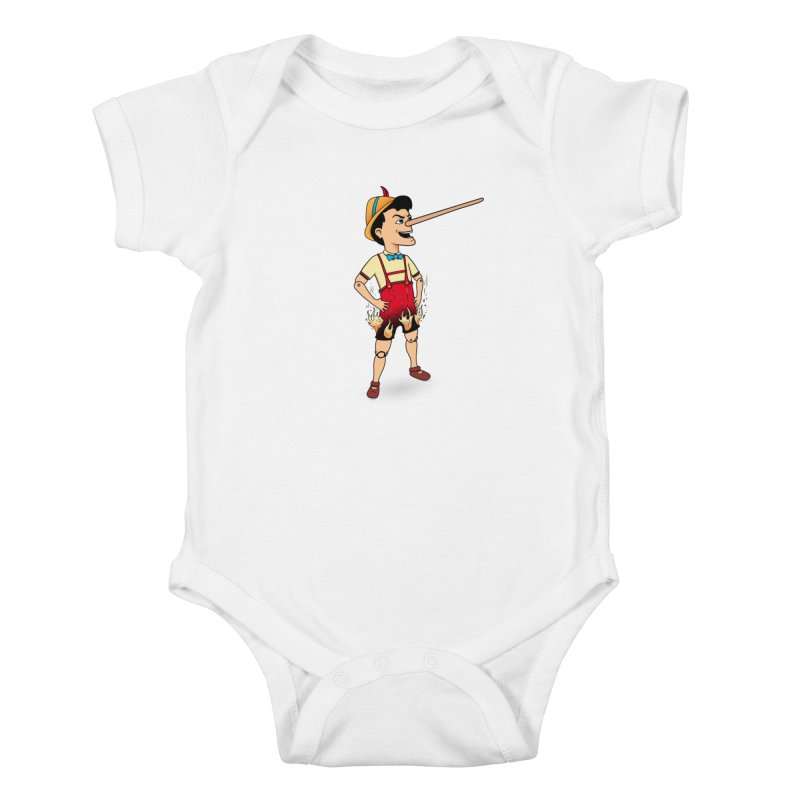 Liar Liar Kids Baby Bodysuit by 9th Mountain Threads