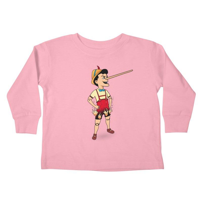 Liar Liar Kids Toddler Longsleeve T-Shirt by 9th Mountain Threads