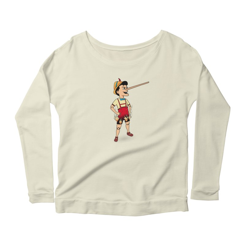 Liar Liar Women's Scoop Neck Longsleeve T-Shirt by 9th Mountain Threads