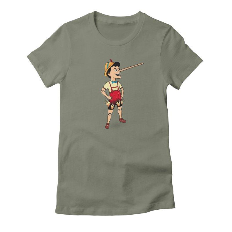 Liar Liar Women's Fitted T-Shirt by 9th Mountain Threads