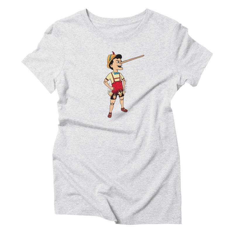 Liar Liar Women's Triblend T-Shirt by 9th Mountain Threads