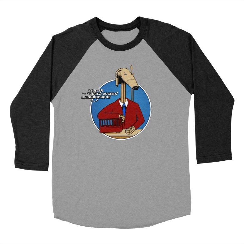 Mr. Roger Roger Men's Baseball Triblend Longsleeve T-Shirt by 9th Mountain Threads