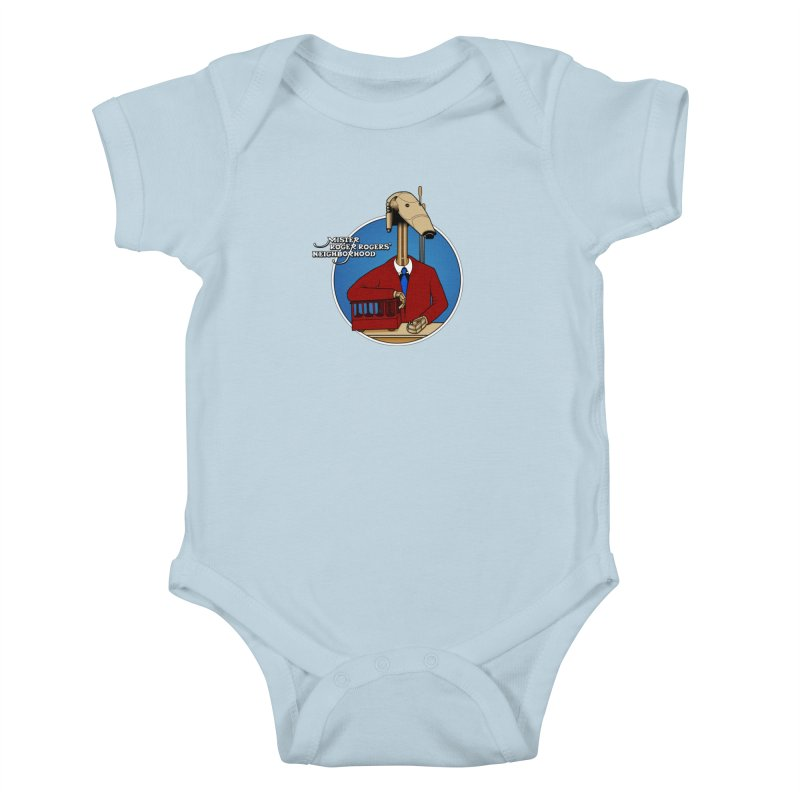 Mr. Roger Roger Kids Baby Bodysuit by 9th Mountain Threads