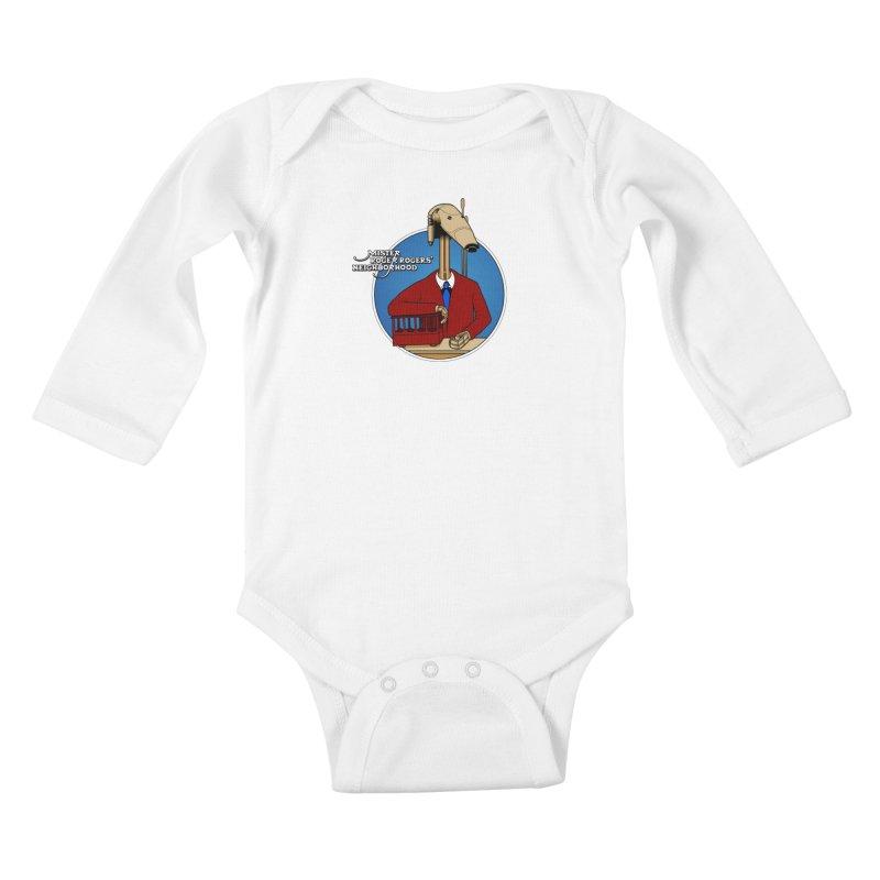 Mr. Roger Roger Kids Baby Longsleeve Bodysuit by 9th Mountain Threads