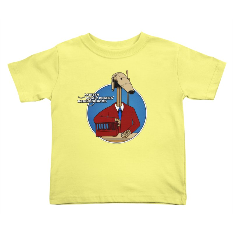 Mr. Roger Roger Kids Toddler T-Shirt by 9th Mountain Threads