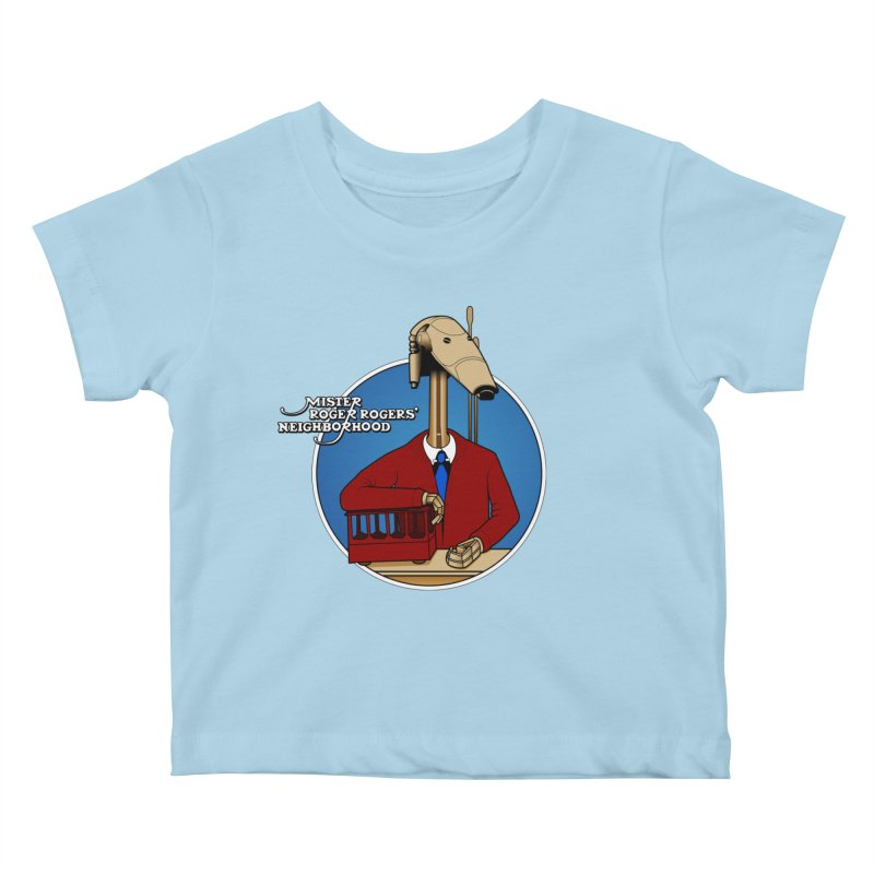 Mr. Roger Roger Kids Baby T-Shirt by 9th Mountain Threads