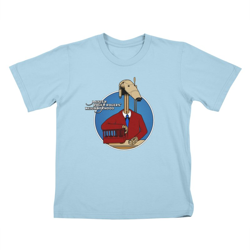 Mr. Roger Roger Kids T-Shirt by 9th Mountain Threads
