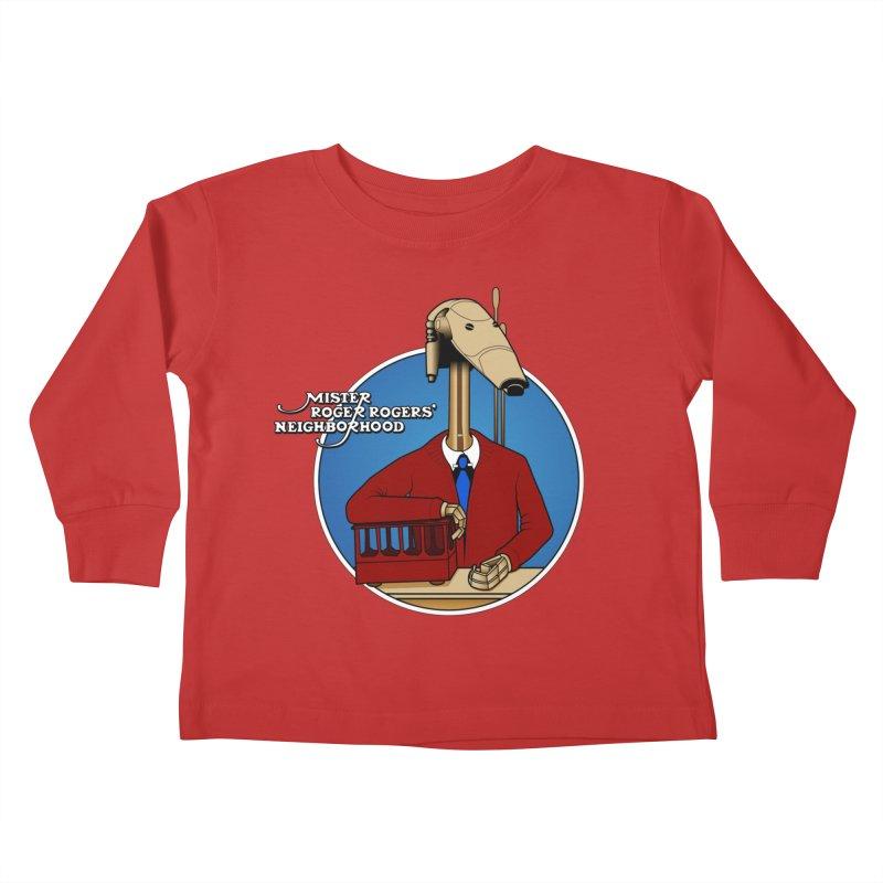 Mr. Roger Roger Kids Toddler Longsleeve T-Shirt by 9th Mountain Threads