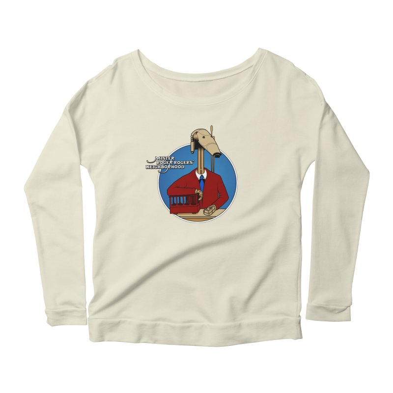 Mr. Roger Roger Women's Scoop Neck Longsleeve T-Shirt by 9th Mountain Threads