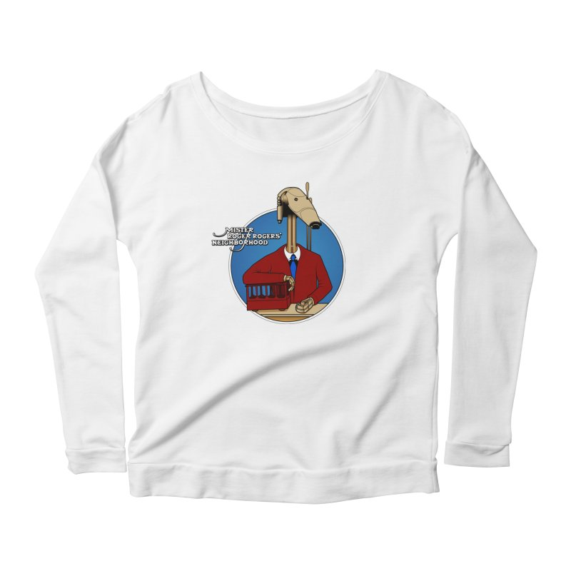 Mr. Roger Roger Women's Scoop Neck Longsleeve T-Shirt by 9th Mountain Threads