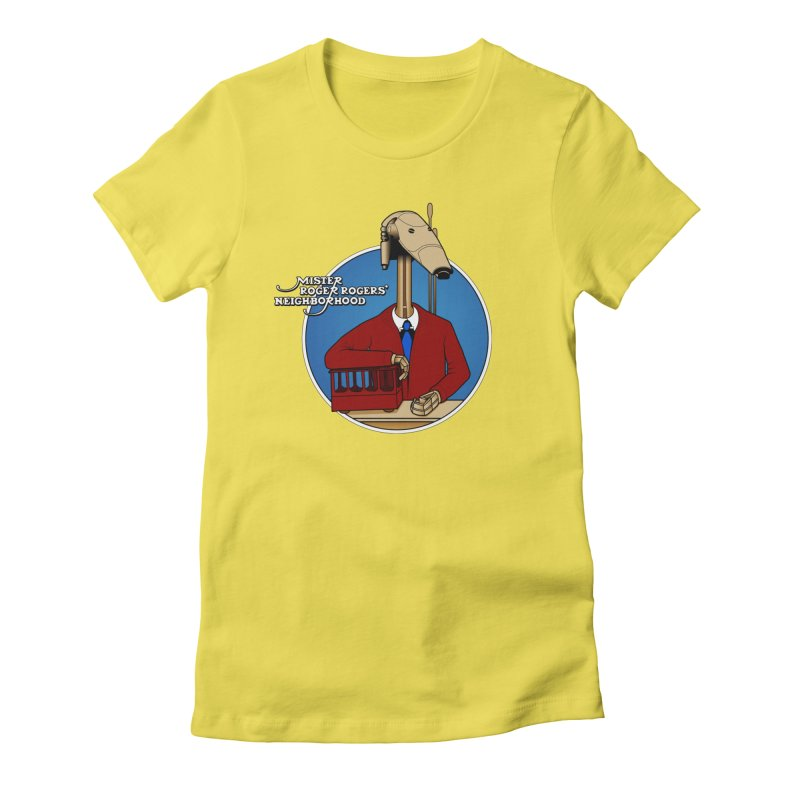 Mr. Roger Roger Women's Fitted T-Shirt by 9th Mountain Threads