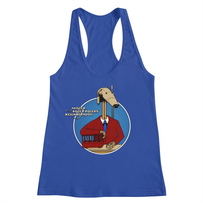 Mr. Roger Roger Women's Racerback Tank by 9th Mountain Threads